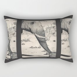 Family - Elephant Mourning Rectangular Pillow