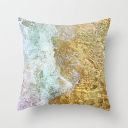 cycle wave Throw Pillow