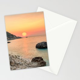The sunset at the famous village Agios Nikitas in Lefkada, Greece Stationery Cards
