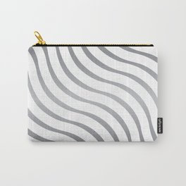 Abstract Waves illusion Pattern - Steel Carry-All Pouch