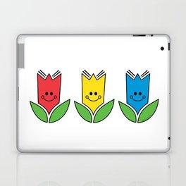 Flowers Of Primary Colors - Fleurs Aux Couleurs Primaires Laptop & iPad Skin