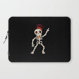 Dancing halloween skull Laptop Sleeve