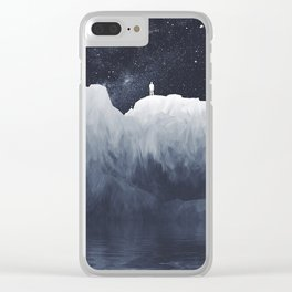 Glitchescape Clear iPhone Case