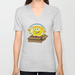 spongebob squarepants imagination Unisex V-Neck