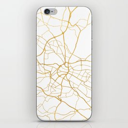 DRESDEN GERMANY CITY STREET MAP ART iPhone Skin