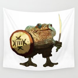 Frog warrior Wall Tapestry