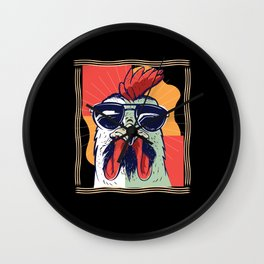 Cool Rooster Wall Clock