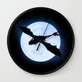 Full Moon Dragon Wall Clock