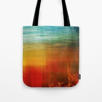flight Tote Bags featuring Flight by SensualPatterns