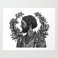 Bearded Lady  Art Print