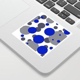 Bubbles blue grey- white design Sticker
