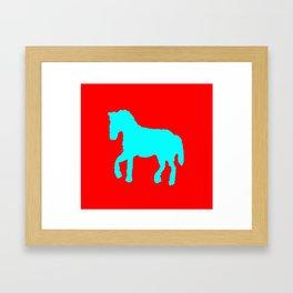 Blue horse  ign Framed Art Print