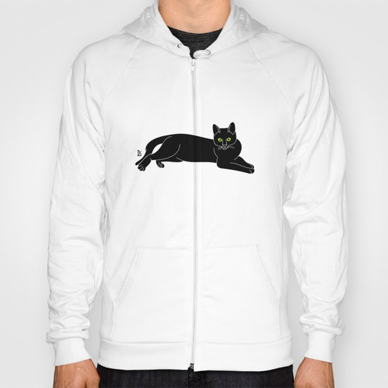 Black cat silhouette Hoody