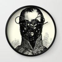 bdsm Wall Clocks featuring BDSM XXVII by DIVIDUS