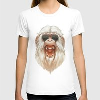 ruben T-shirts featuring The Great White Angry Monkey by Dr. Lukas Brezak