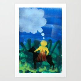 Dog Boy Art Print