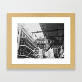 Bourbon Street: A Summary (B&W) Framed Art Print