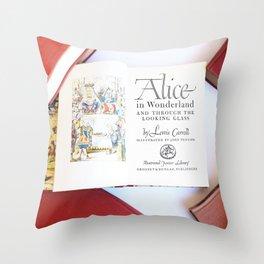 Alice in Wonderland 3 Throw Pillow