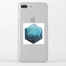 One Blue Icosahedron Clear iPhone Case