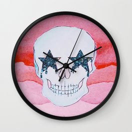 star skull Wall Clock