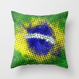 Brazil - Brazilian Flag Throw Pillow