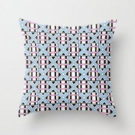 symetric tartan and gingham 17 -vichy, gingham,strip,square,geometric, sober,tartan Throw Pillow