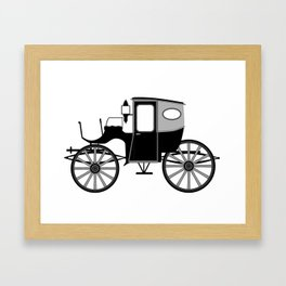 Old Style Carriage Framed Art Print