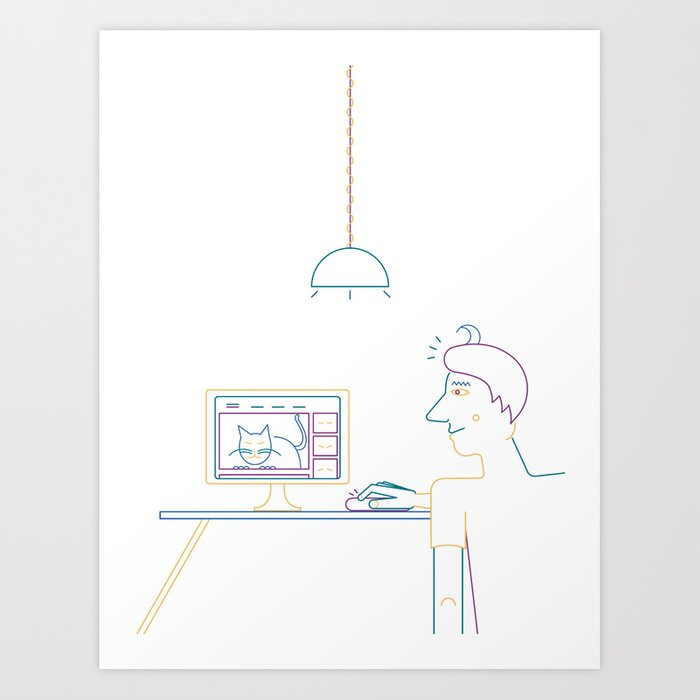 How To Waste Time Properly: Illustration by Francesco Izzo for Nautilus. Art Print