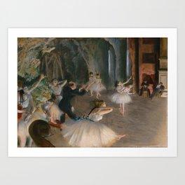 "Edgar Degas ""The Rehearsal Onstage"" Art Print"
