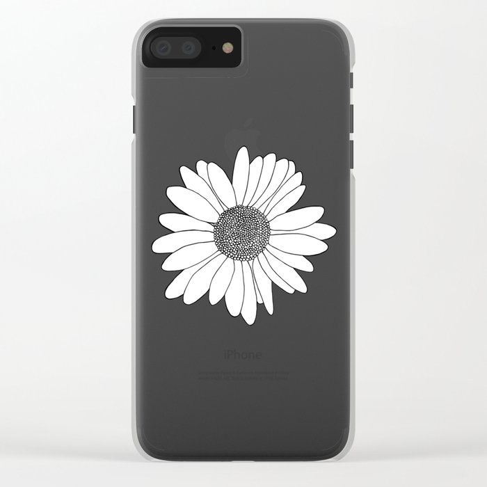 Daisy Boarder Mint Clear iPhone Case