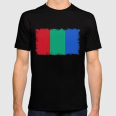 Flag of the planet Mars - Diff TEE version Mens Fitted Tee Black MEDIUM