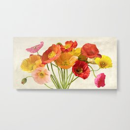 Luca Villa - Poppies in Spring Metal Print