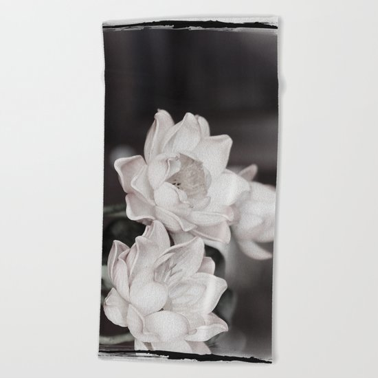 Lovely Water Lily Beach Towel