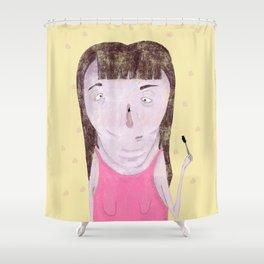 Mascara Problems Shower Curtain