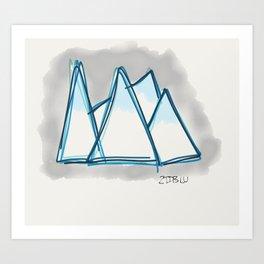 Bluey Peaks Art Print