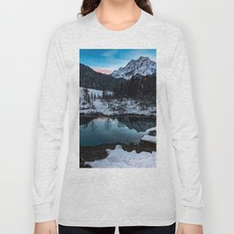 Zelenci springs at dusk Long Sleeve T-shirt