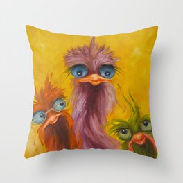 Mom is in charge Throw Pillow