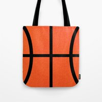 basketball Tote Bags featuring Basketball by Rorzzer