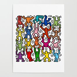 Homage to Keith Haring Acrobats II Poster