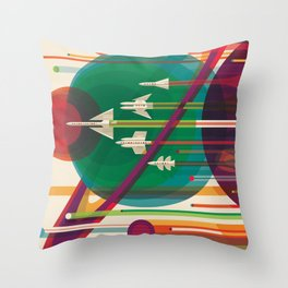 Visions of the Future - The Grand Tour Throw Pillow