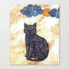 My blue cat.   Canvas Print
