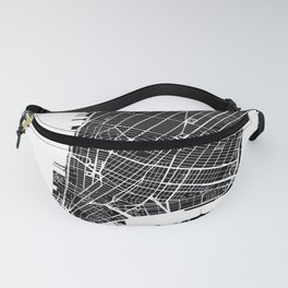 Black City Map of New York City, USA Fanny Pack