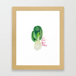 Eat More Bok Choy Framed Art Print