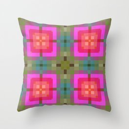 Pink Gold Geometric Throw Pillow