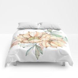 Coral Desert Roses Comforters