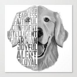 Golden Retriever PNG, Dog Print, Print for T shirt, Golden Retriever Gift, Subway Art, Golden Retrie Canvas Print