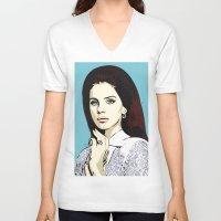lana V-neck T-shirts featuring LANA by DVNJCK
