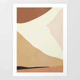 abstract minimal 55 Art Print