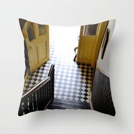 Vintage Stairs Throw Pillow