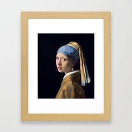 Johannes Vermeer - Girl with a Pearl Earring Framed Art Print